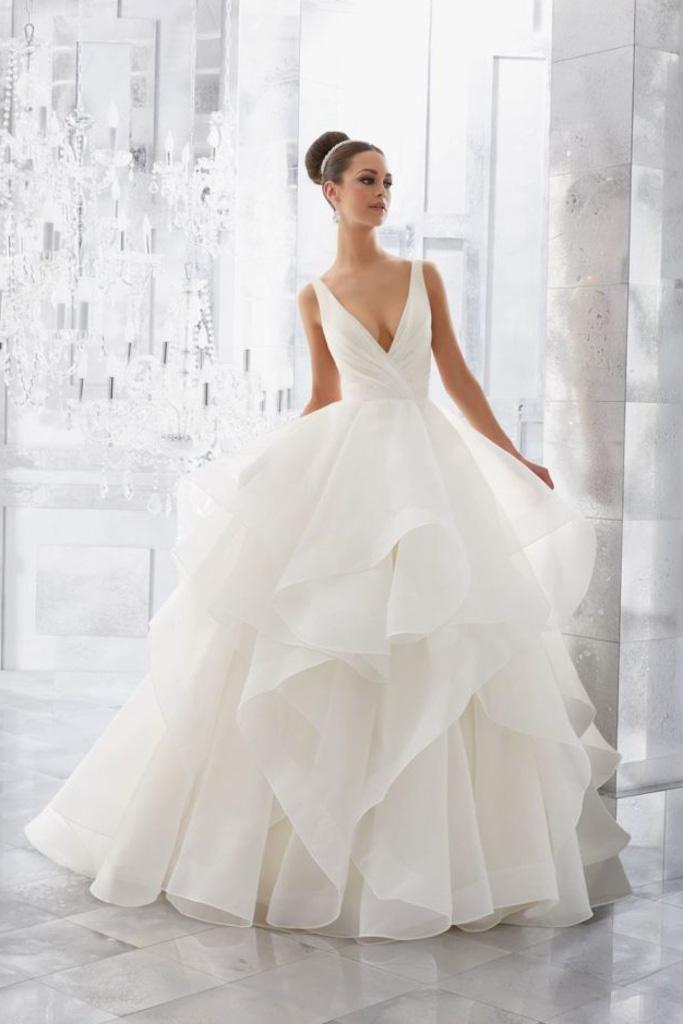 Suknia ślubna z organzy