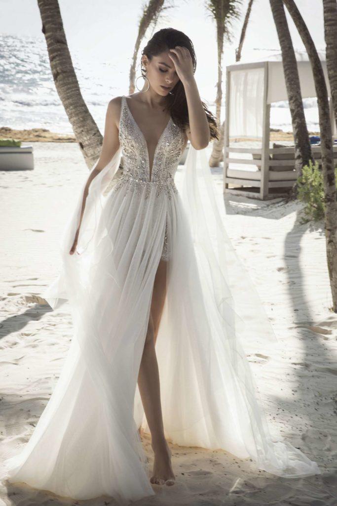 Suknia ślubna z szyfonu